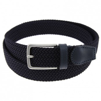 Elastic braided belt in navy blue - Rob II