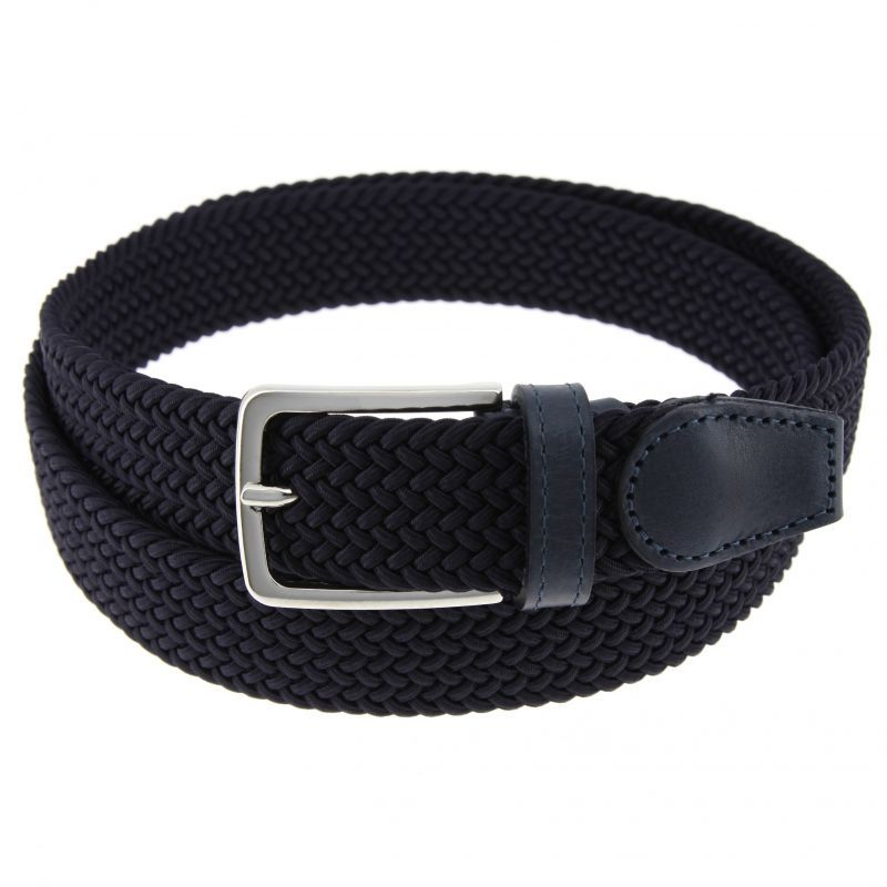 b0053af876cdc Elastic braided belt in navy blue - Rob II - The Nines