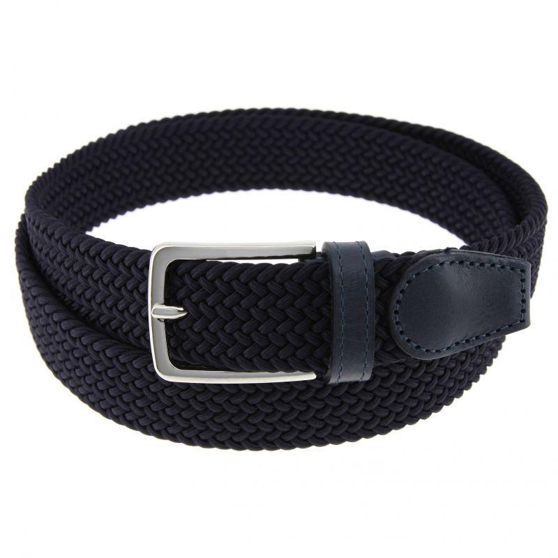 Elastic braided belt in navy blue - Rob II