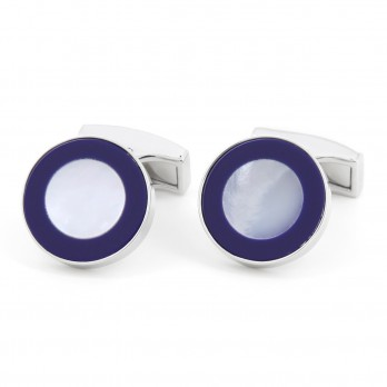 Round blue mother of pearl - Palea
