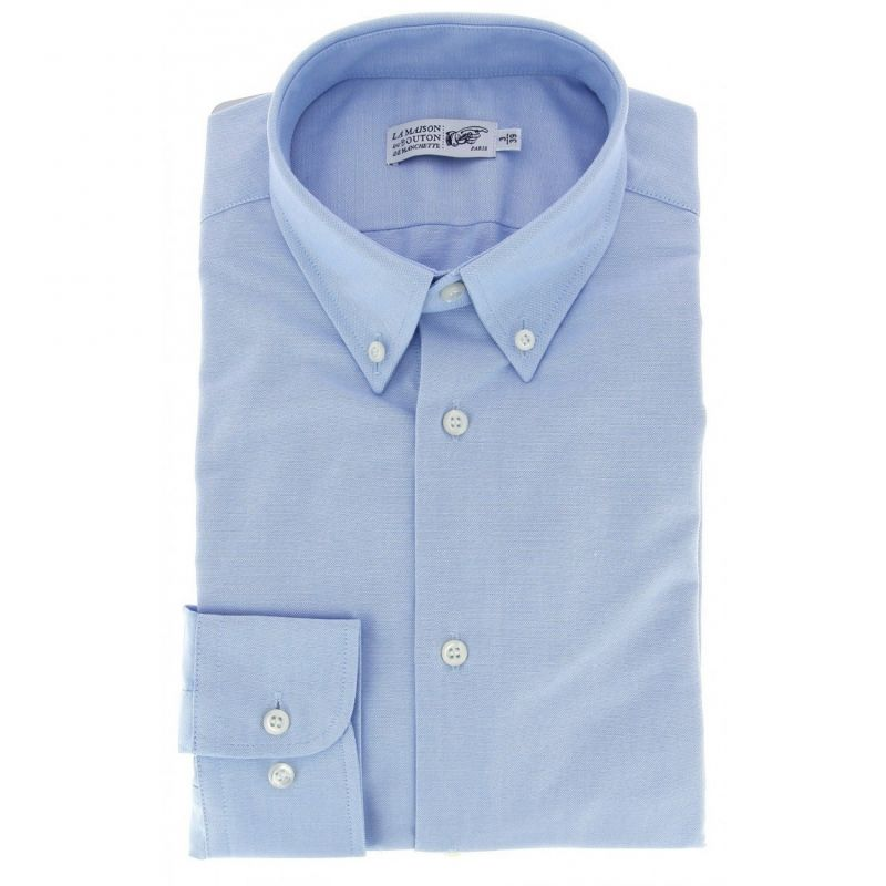 Regular Fit Blue Oxford Button Down Collar Button Cuff ...