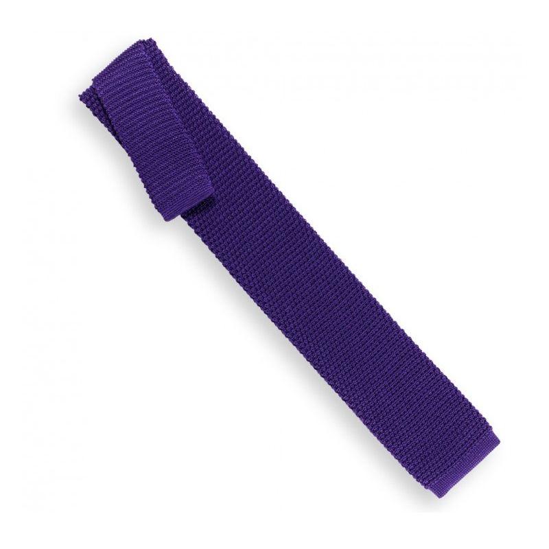 Knit Purple Tie - Monza