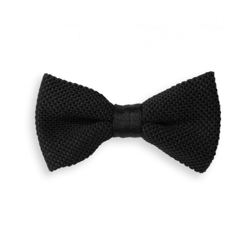 Black Knitted Bow Tie The House Of Ties