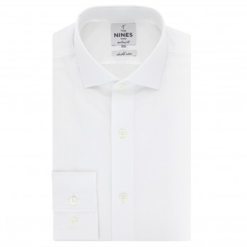 White shark collar shirt tailored fit