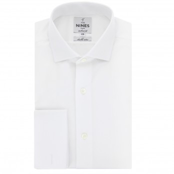 Tailored fit white classic collar French Cuff shirt