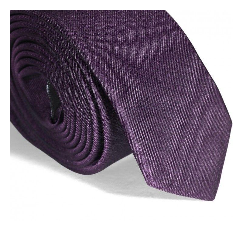 Violet Narrow Tie - Sienne