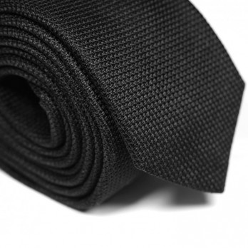 Black Grenadine Silk Héritage Tie - Grenadines IV