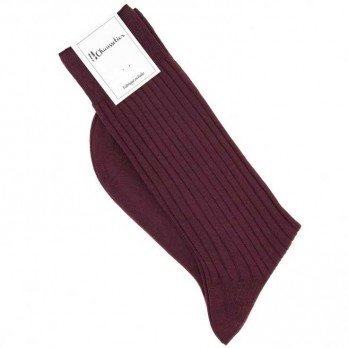 Burgundy scottish lisle thread socks