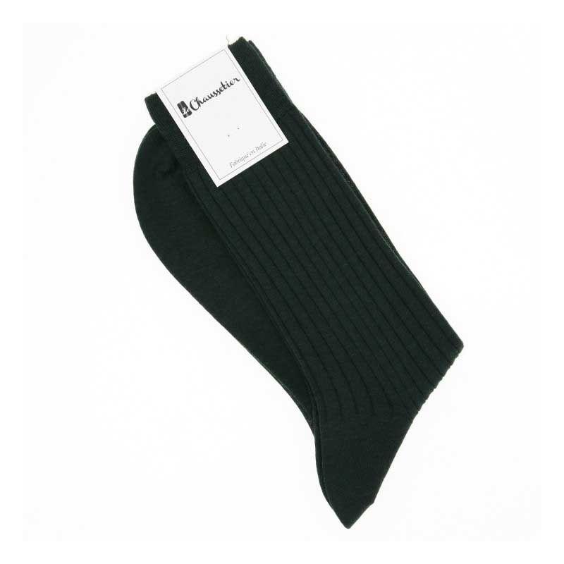 Cypress green virgin wool socks