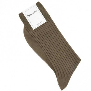 Hazelnut scottish lisle thread socks