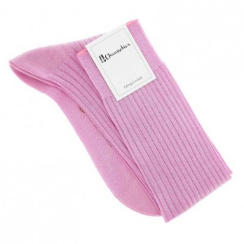 Pink cotton lisle knee socks