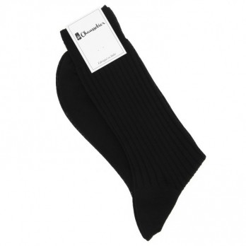 Black virgin wool socks