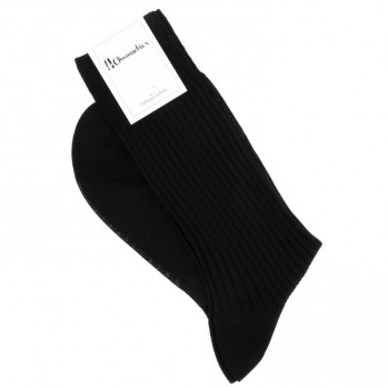 Black scottish lisle thread socks