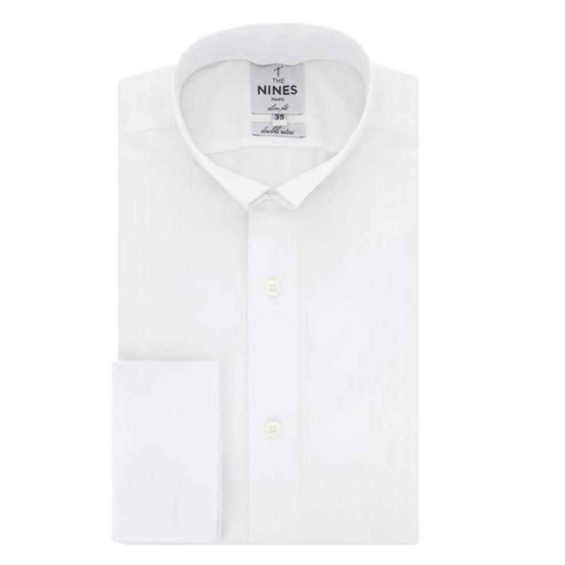 b8a0d691 Slim Fit White Reversed Collar Shirt - Formal Shirts