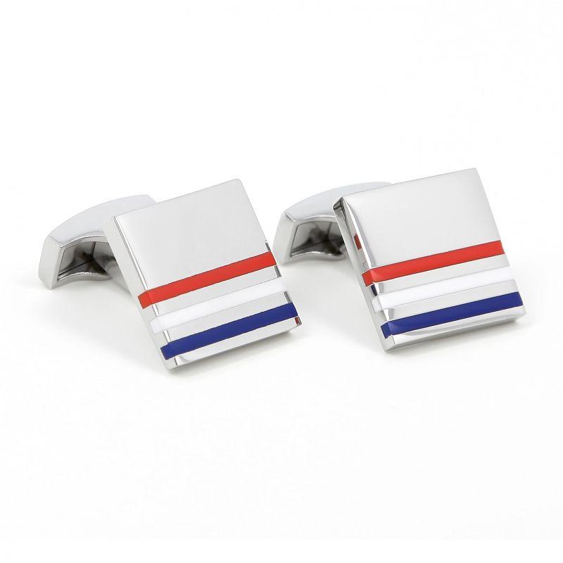 Squared blue, white, red cufflinks - Kobe V