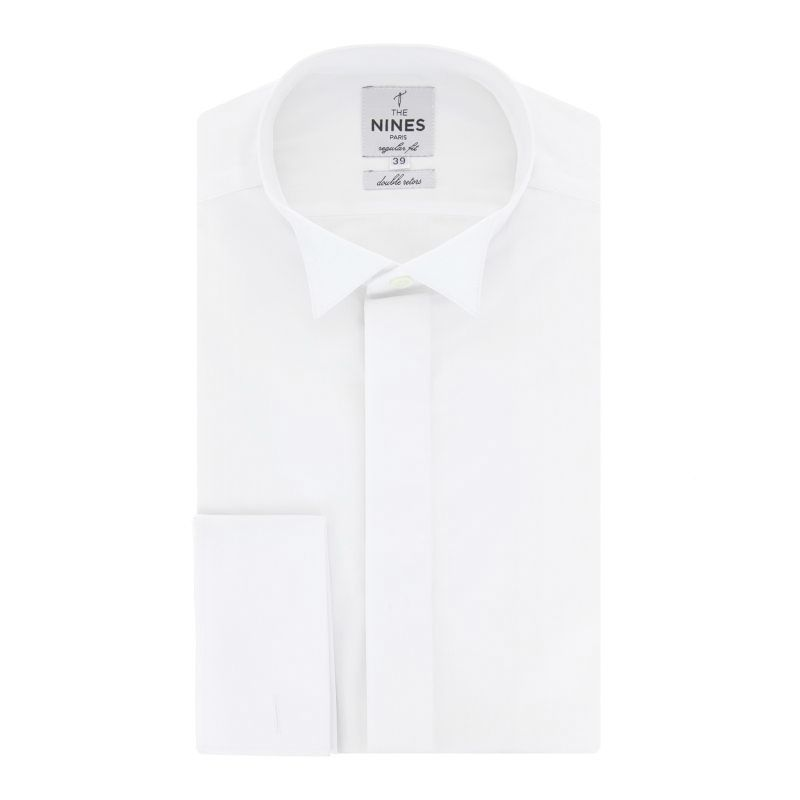 regular fit white wing collar french cuff shirt the nines. Black Bedroom Furniture Sets. Home Design Ideas