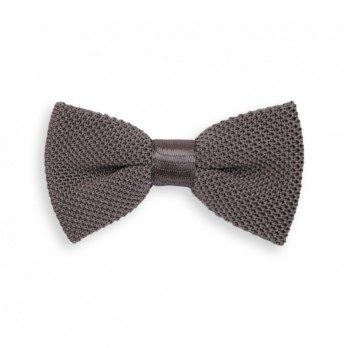 Grey Knitted Bow Tie - Monza
