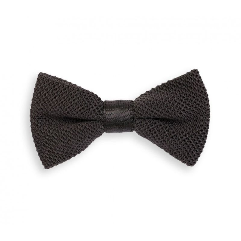 Anthracite Grey Knitted Bow Tie The House Of Ties