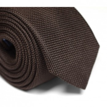 Brown Grenadine Silk The Nines Tie - Grenadines IV