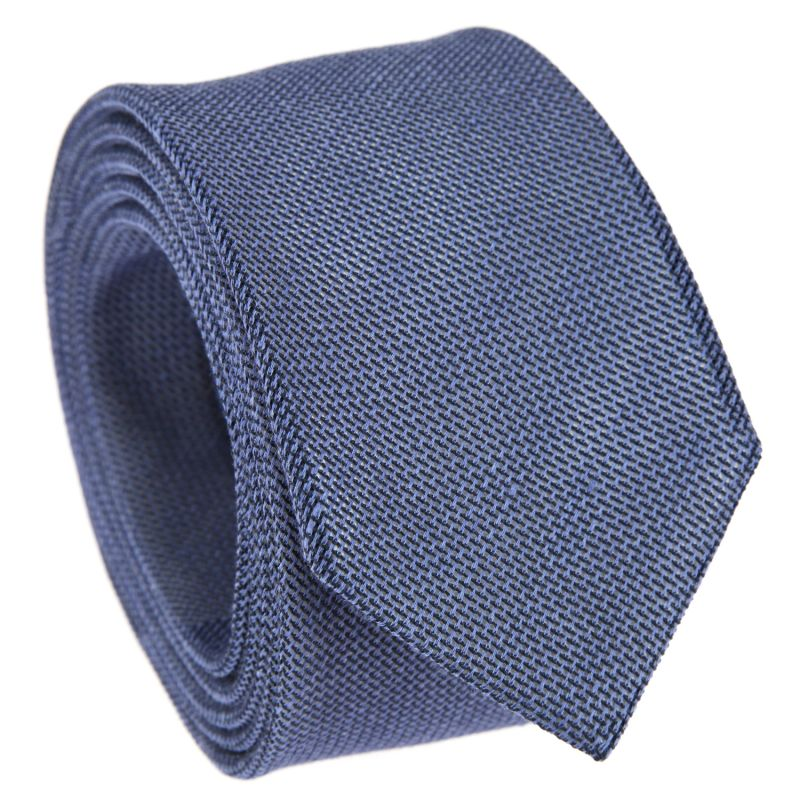 Navy Blue tie in Grenadine Silk and Cotton The Nines
