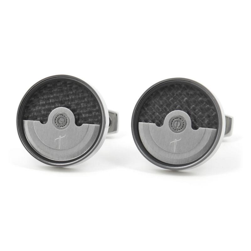 Silver watch movement cufflinks - Lugano