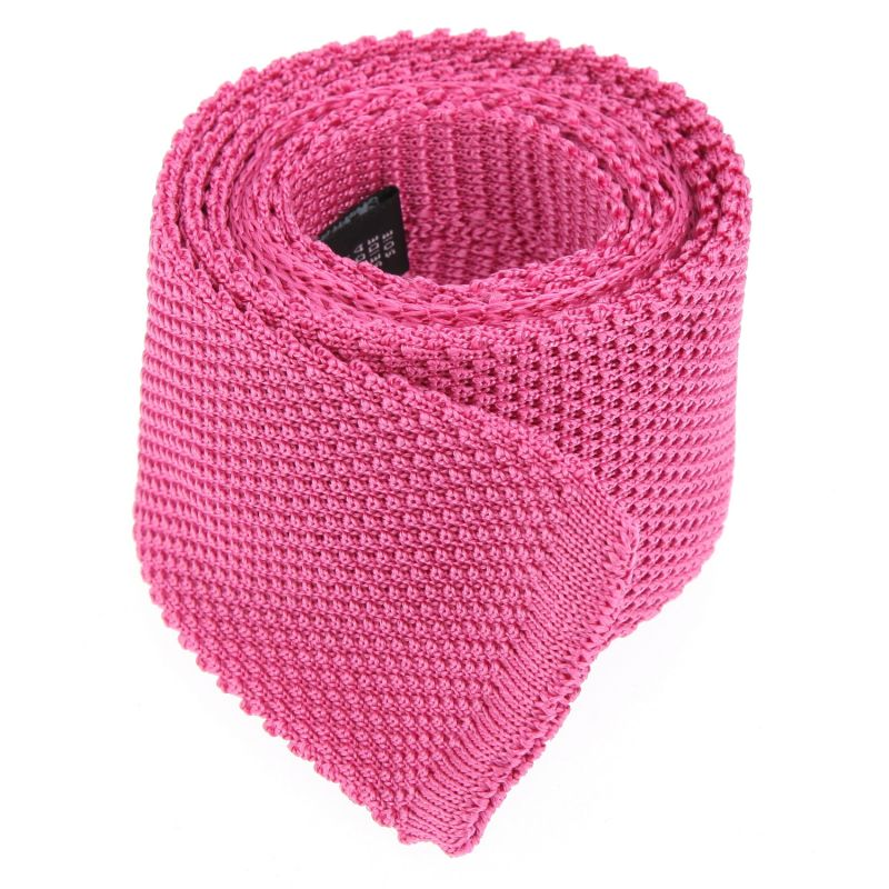 Bright Pink Knitted Tie The Nines