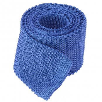 Sapphire Blue Knitted Tie - Monza