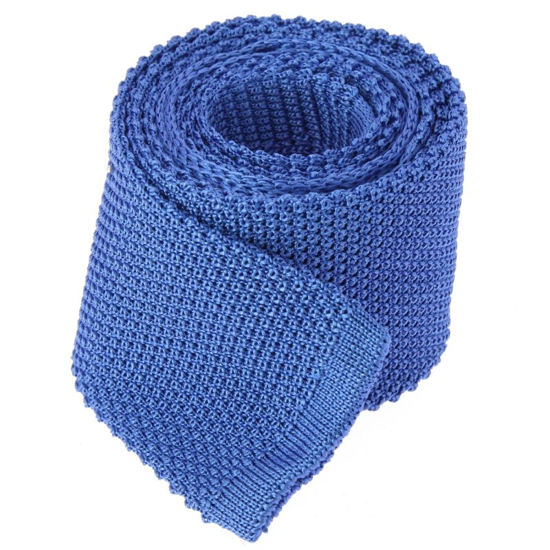 Sapphire Blue Knitted Tie The Nines