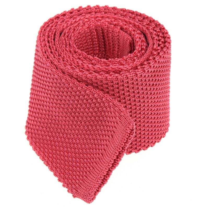 Coral Pink Knitted Tie The Nines