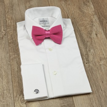 Knit Bright Pink Bow tie - Monza