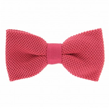 Knit Coral Pink Bow tie - Monza