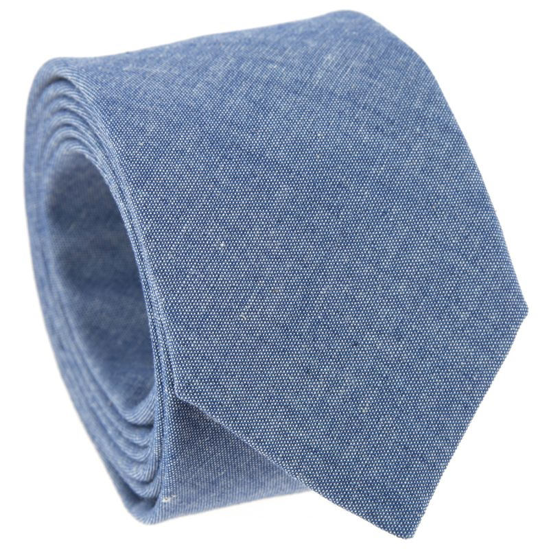 Blue Tie in Chambray The Nines