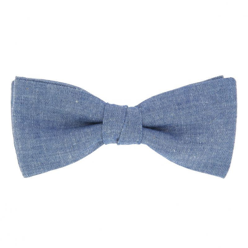 Blue Bow tie in Chambray The Nines