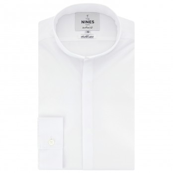 White reverse collar shirt tailored fit
