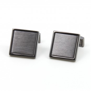 Black square cufflinks - Vienna