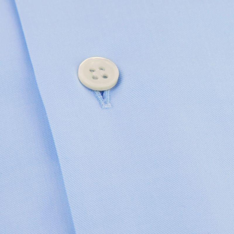 Slim Fit Blue Twill Cutaway Collar Shirt The Nines