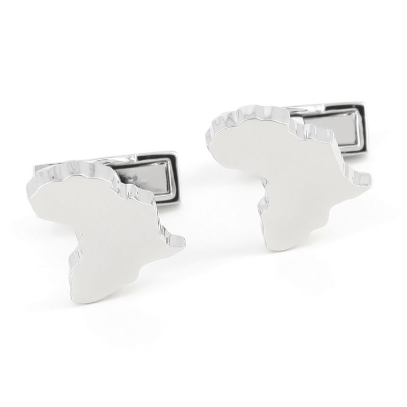 Map cufflinks - Africa