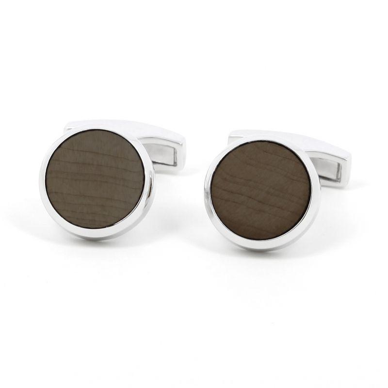 Rosewood Sterling silver cufflinks - Saint Honoré