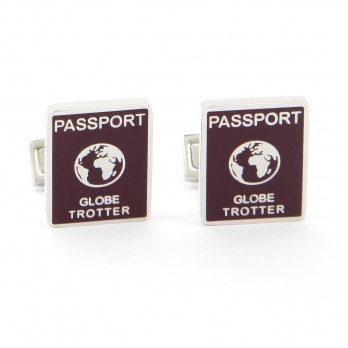 Rectangular cufflinks - Passport