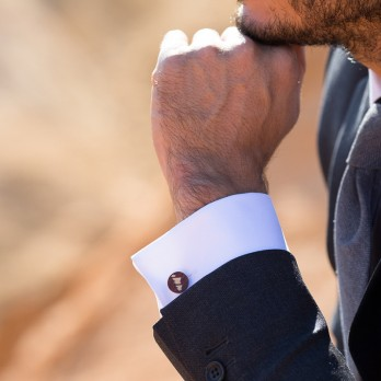 Mountains Cufflinks in Wood - Monument Valley