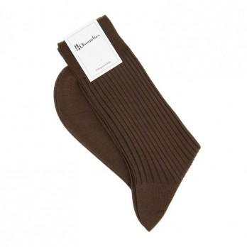 Brown scottish lisle thread socks