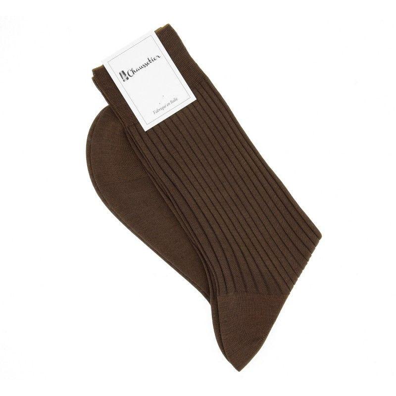 Brown scottish lisle thread socks