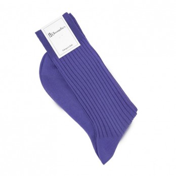 Purple scottish lisle thread socks, fine ribbed