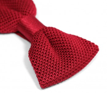 Knit Red Bow Tie - Monza