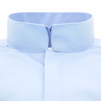 Blue reverse collar shirt tailored fit