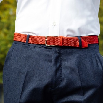 Elastic braided belt in navy blue - Rob III