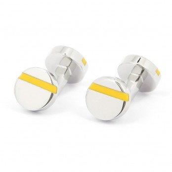 Round yellow cufflinks - Madrid