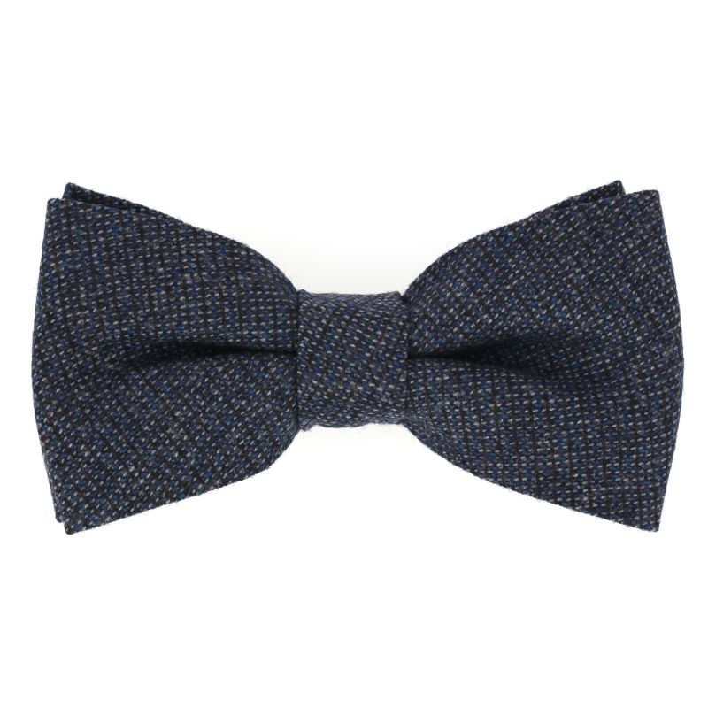 Blue Bow Tie in Flannel The Nines
