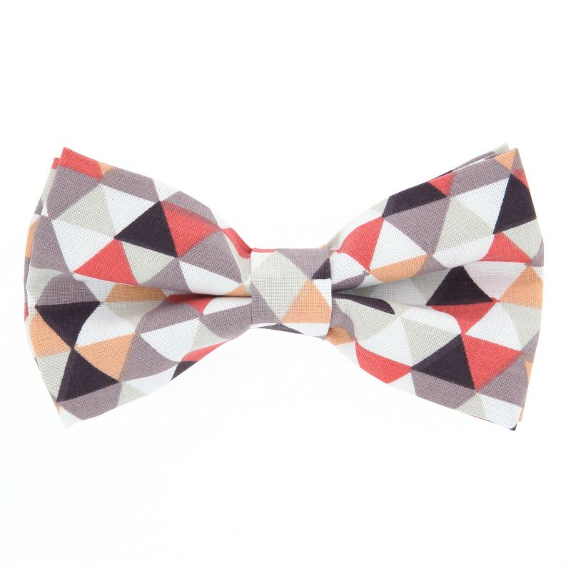 Bow Tie with Red and Orange Checked The Nines