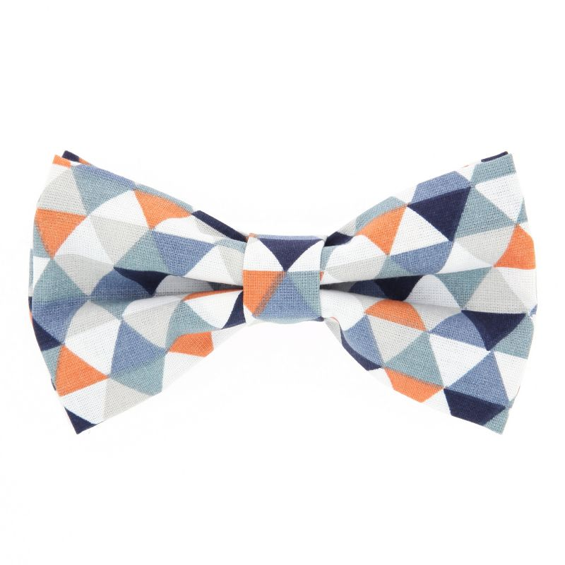 Bow Tie with Orange and Blue Checked The Nines